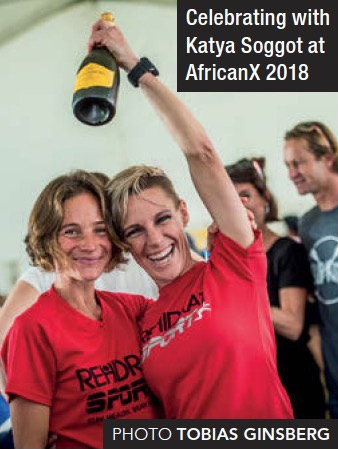 Chantel Nienaber and Katya Soggot clebrate AfricanX 2018 by tobias Ginsberg TRAIL 30