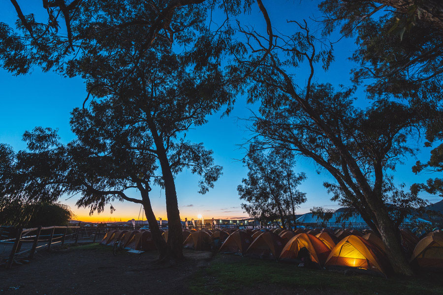 Lormar Endurance Trail Run 2019 promo campsite night time