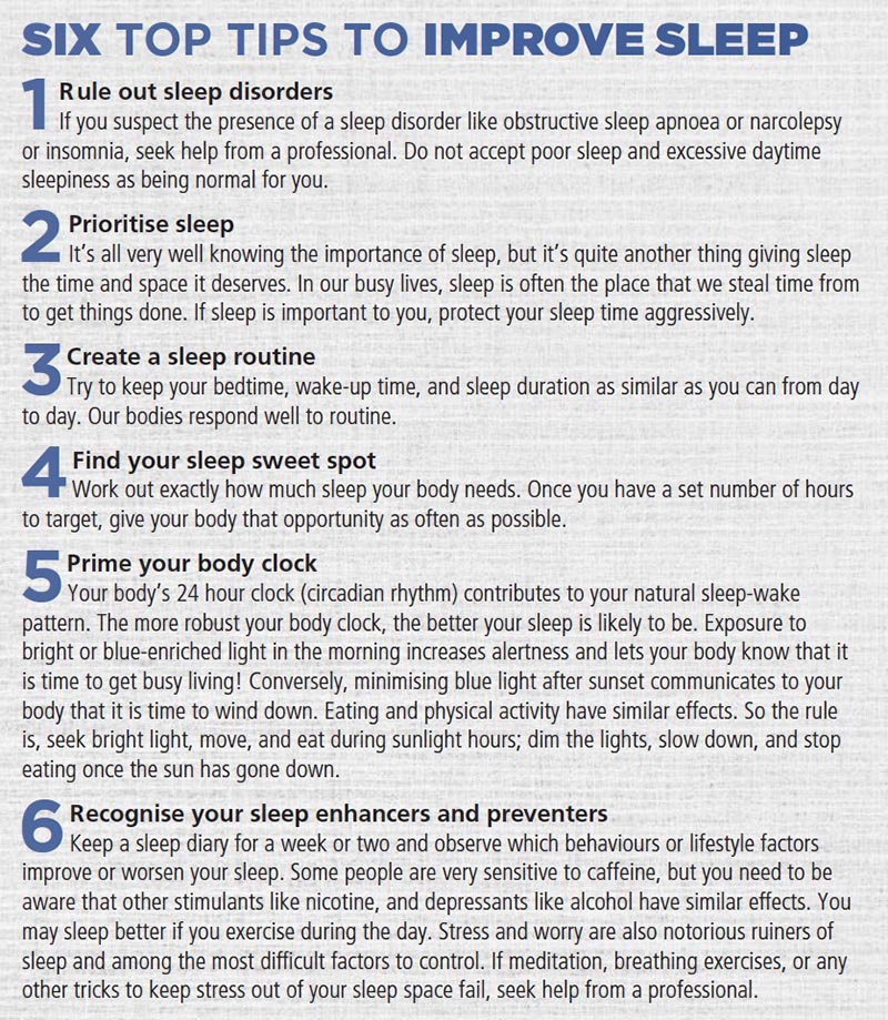 sleep improvement tips Dr Dale Rae trail running training TRAIL 29