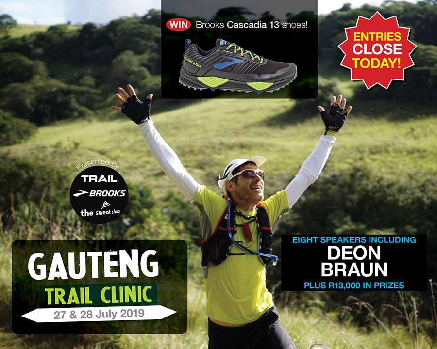 Gauteng Trail Clinic 2019 speaker DEON BRAUN by Grant Harper