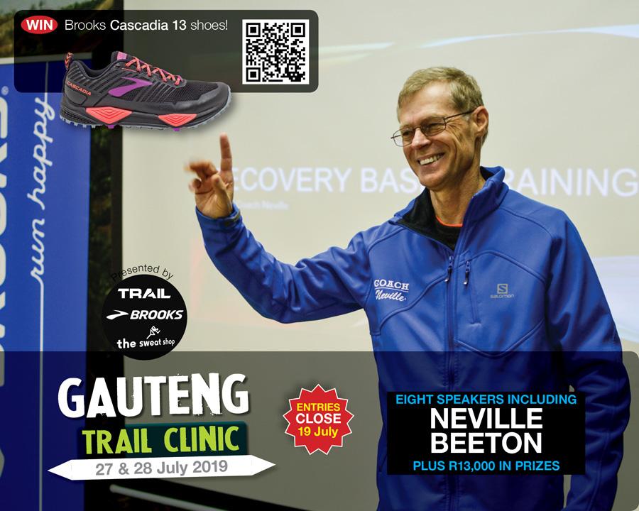 Gauteng Trail Clinic 2019 speaker COACH NEVILLE