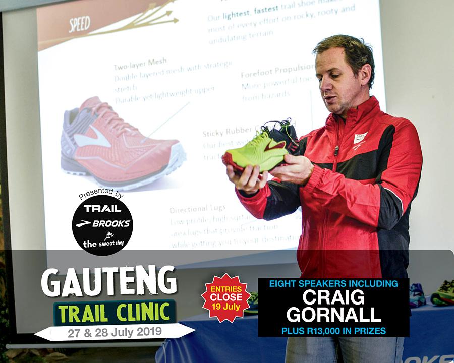 Gauteng Trail Clinic 2019 speaker CRAIG GORNALL