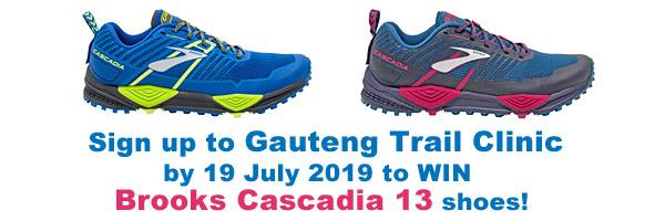 brooks cascadia 13 shoes prize gauteng trail clinic 2019 600x200pixels