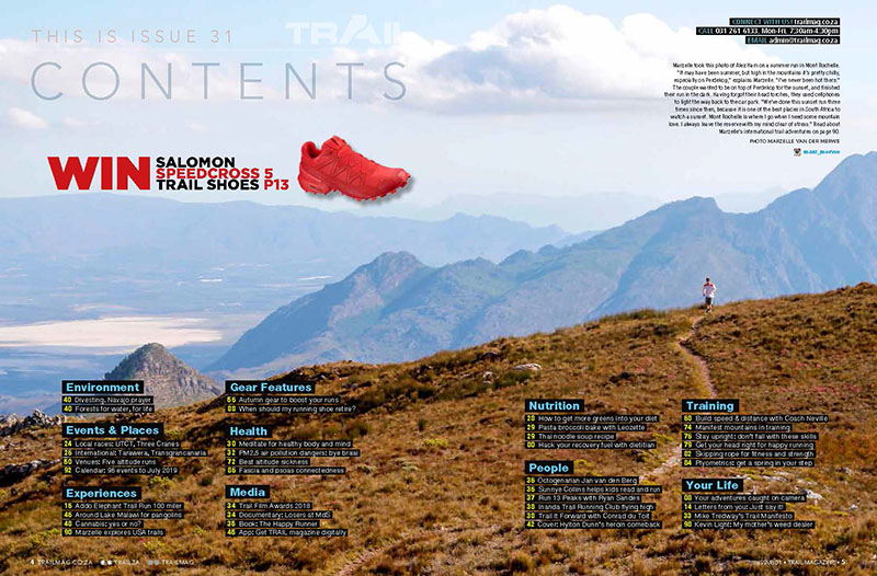 contents page by Marzelle van der Merwe TRAIL 31