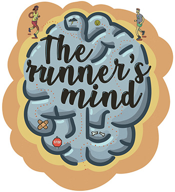 Runner mind illustration by Barry Maitland-Stuart TRAIL 32