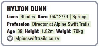 Hylton Dunn stats info box TRAIL 31
