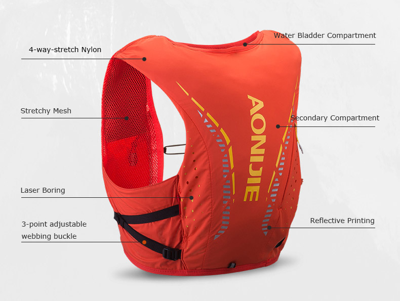AONIJIE Moderate Gale 10L vest 10-Litre hydration pack 2019 back cropped