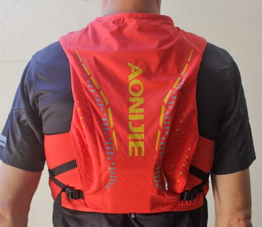 Aonijie Moderate Gale 10L hydration pack 2019 back rear view