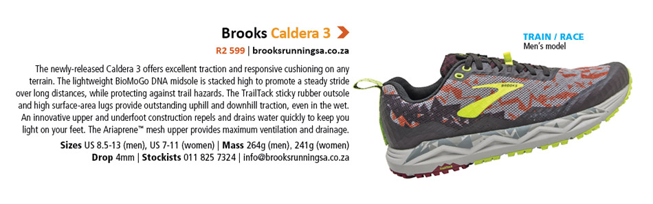 Brooks Caldera 3 men's shoe TRAIL 2020 Reader Survey competition prize hamper