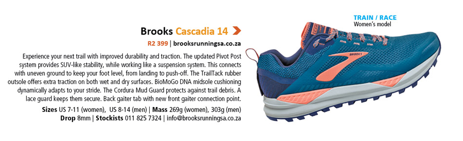 Brooks Cascadia 14 women's shoe TRAIL 2020 Reader Survey competition prize hamper