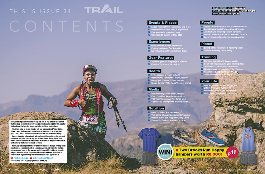 contents page Runtheberg TRAIL 34