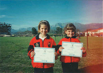 Annalise and Kerry Ann Marshall school athletics TRAIL 34