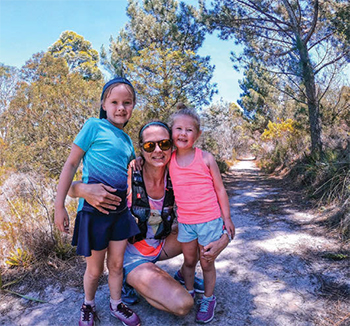 Annalise with daughters TRAIL 34