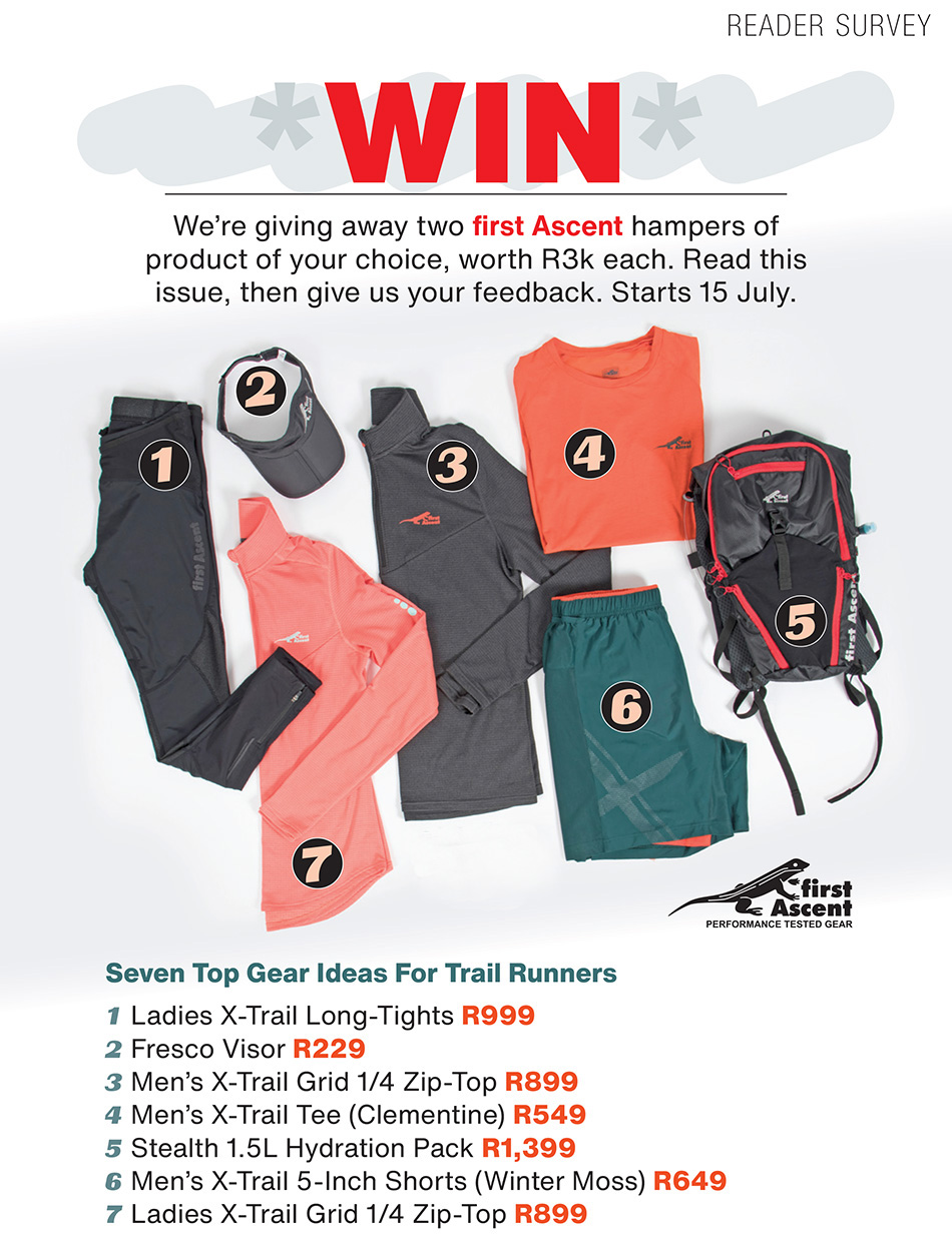 First Ascent reader survey TRAIL magazine issue 36 competition giveaway