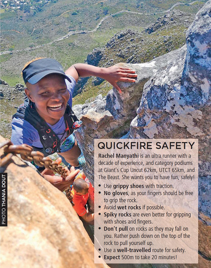 Scrambling safety Rachel Manyathi by Thania Dout TRAIL 34