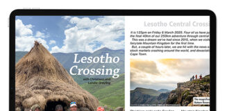iPad Pro digital issue Lesotho Crossing spread web T36