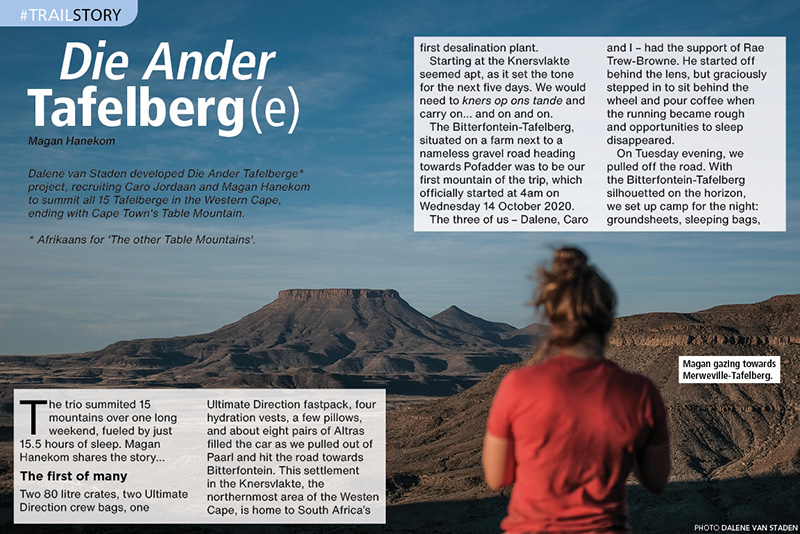 Table Mountains Ander Tafelberge Dalene van Staden TRAIL 38