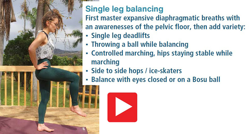 core strength single leg balance Karine Bezuidenhout TRAIL 37