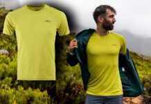 First Ascent Men's-X-Trail-Tee-Wasabi lifestyle model t39