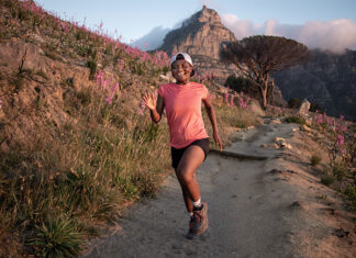 Rachel Manyathi trail runner running by Fahwaaz Cornelius wide cover TRAIL 38
