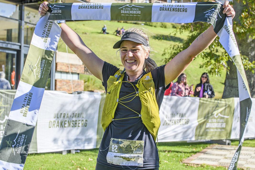 amri williamson winner top woman finish line UTD2021 photo Kirsten Oliver